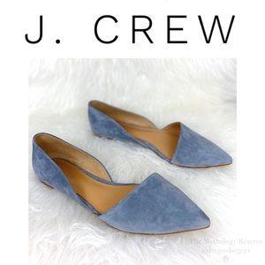J. Crew Zoe Suede d'Orsay Flats